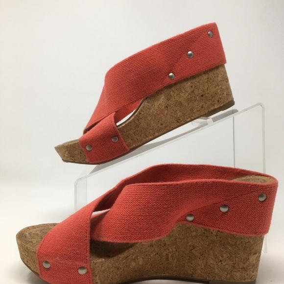 22210796abc Lucky Brand Shoes - Lucky Brand Miller 2 Cork Wedges Slip On